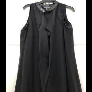 A pea in the pod black silk dress